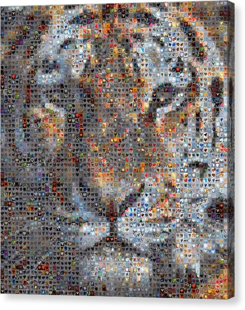 Tiger Canvas Print by Boy Sees Hearts