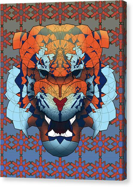 Detroit Tigers Canvas Print - Tiger by Dusty Conley