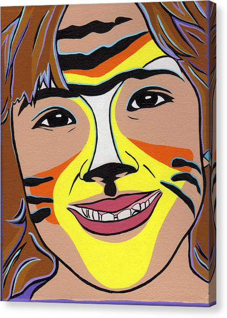 Tiger Girl Canvas Print by Lucia  Perez