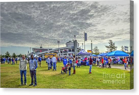 University Of Memphis Canvas Print - Tiger Lane--university Of Memphis Tailgate Party 2015 by Billy Morris