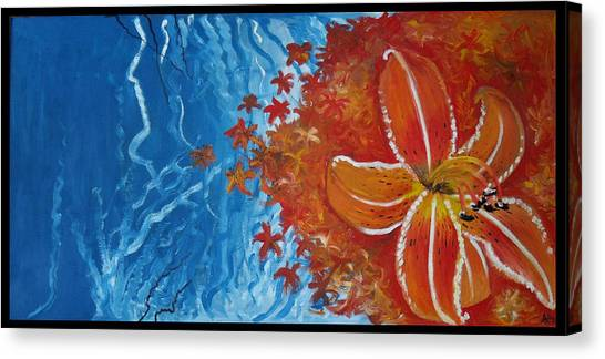 Tiger Lily Canvas Print by Alycia Ryan
