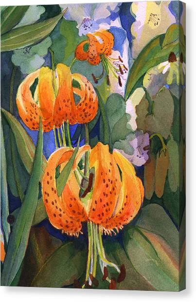 Tiger Lily Parachutes Canvas Print