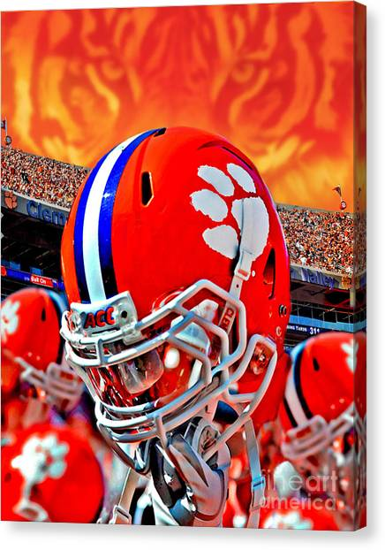 Clemson University Canvas Print - Tiger Pride Iphone Galaxy Cover by Jeff McJunkin