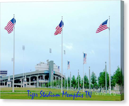 University Of Memphis Canvas Print - Tiger Stadium Memphis Tn by Lizi Beard-Ward