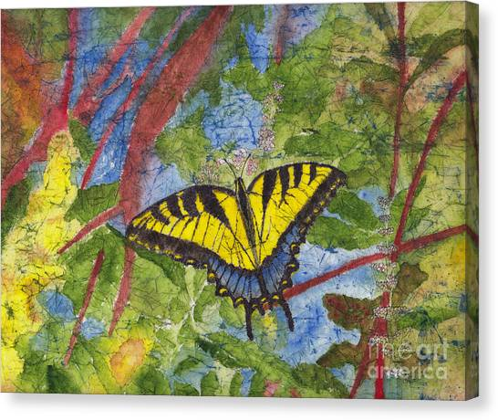 Tiger Swallowtail Watercolor Batik On Rice Paper Canvas Print