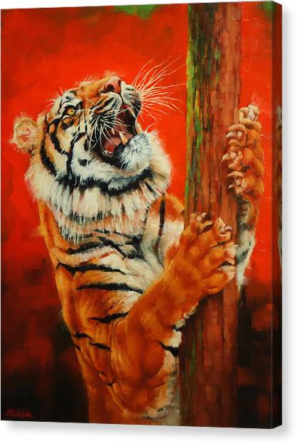 Tiger Tiger Burning Bright Canvas Print