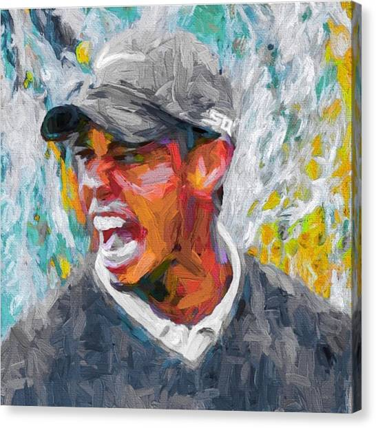 Tigers Canvas Print - #tiger #tigerwoods #golf #progress by David Haskett II