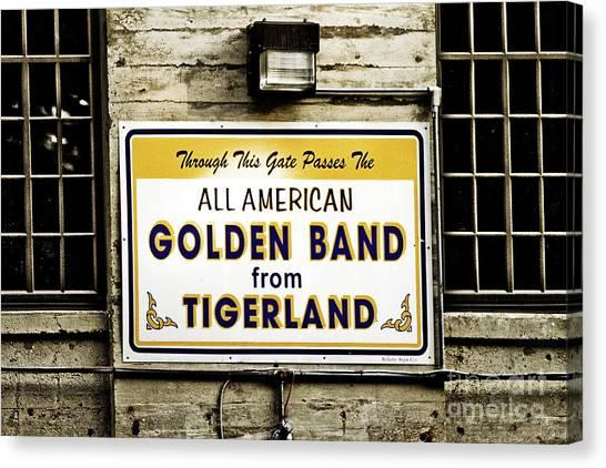 Louisiana State University Lsu Canvas Print - Tigerland Band by Scott Pellegrin