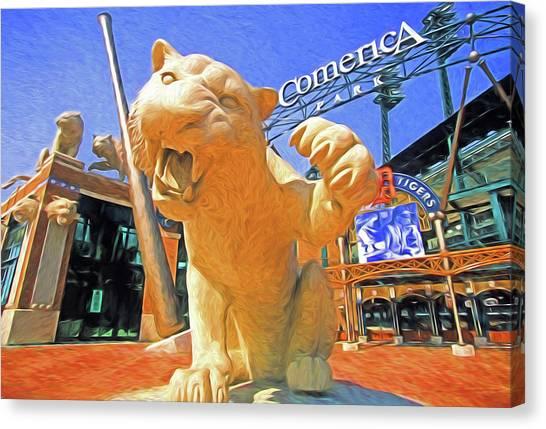 Detroit Tigers Canvas Print - Tigers Park  by Dennis Cox