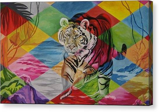 Tiger's Power Canvas Print by Netka Dimoska