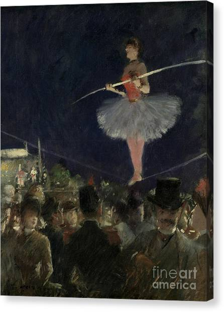 Vertigo Canvas Print - Tightrope Walker by Jean Louis Forain