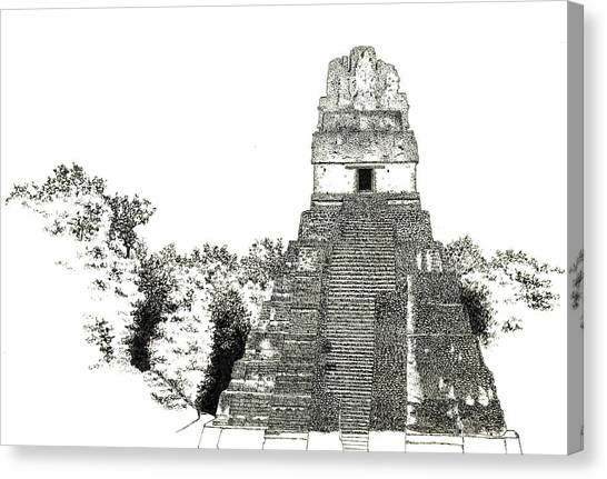 Tikal Temple I Canvas Print