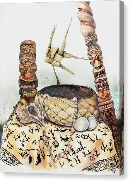 Tiki Still Life 1 Canvas Print