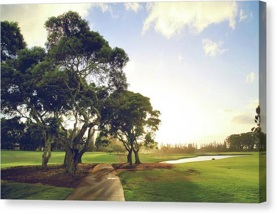 Golf Course Canvas Print - 'til I'm In Your Arms Again by Laurie Search