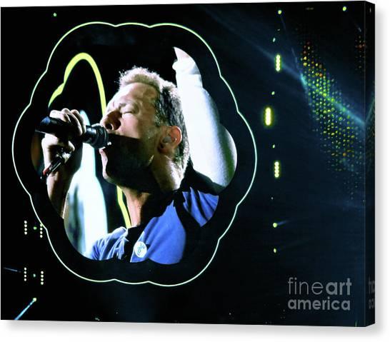 Coldplay Canvas Print - Chris Martin - A Head Full Of Dreams Tour 2016  by Tanya Filichkin