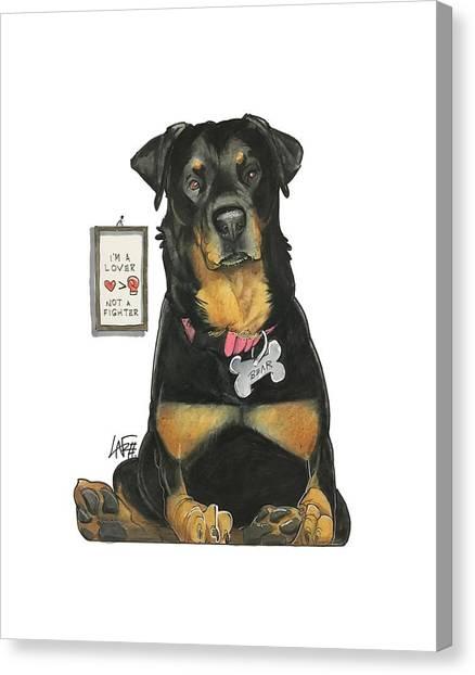 Rottweilers Canvas Print - Tilakamonkul 7-1327 by John LaFree