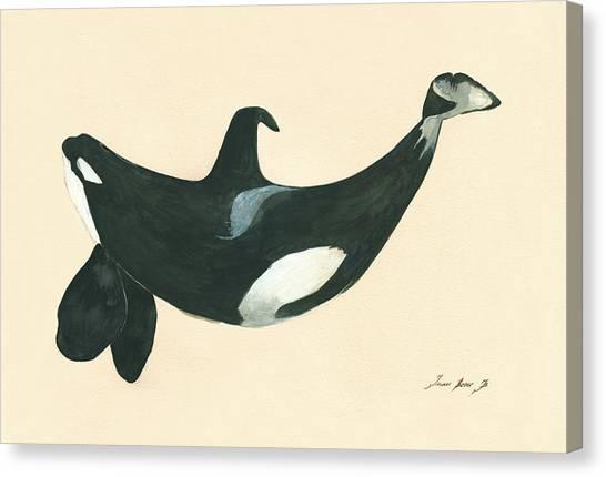 Orcas Canvas Print - Tilikum Killer Whale by Juan Bosco
