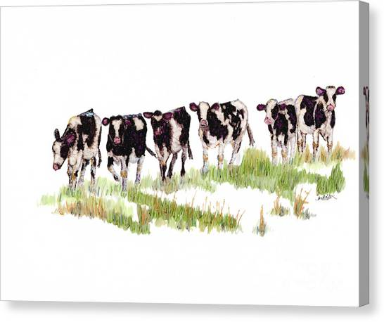 Till The Cows... Canvas Print