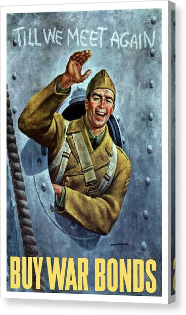 Soldiers Canvas Print - Till We Meet Again -- Ww2 by War Is Hell Store