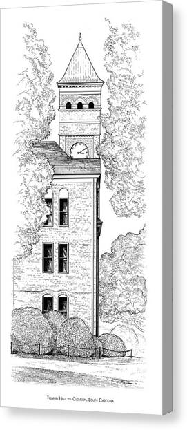 Clemson University Canvas Print - Tillman Hall by Greg Joens