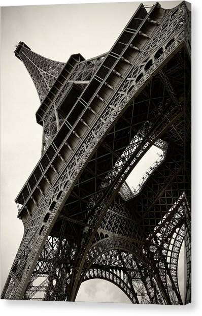 Tilted Eiffel Canvas Print