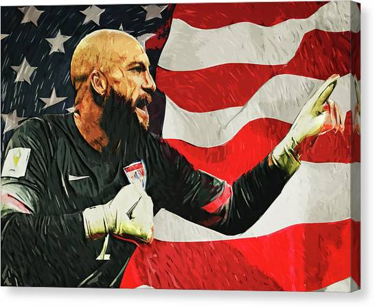 Clint Dempsey Canvas Print - Tim Howard by Zapista