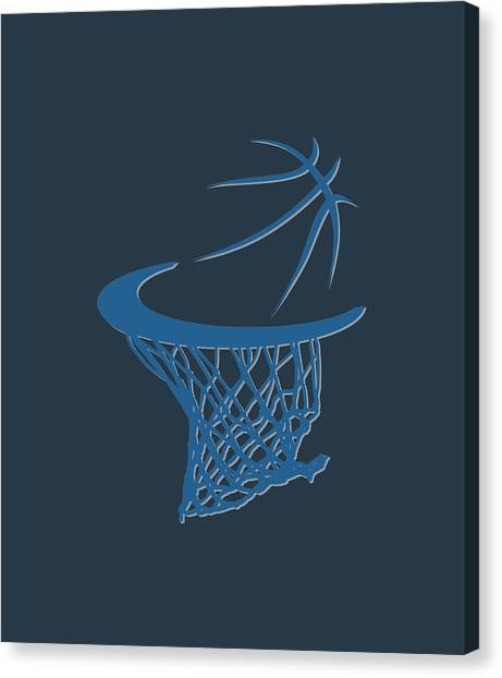 Minnesota Timberwolves Canvas Print - Timberwolves Basketball Hoop by Joe Hamilton
