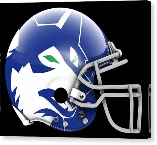 Minnesota Timberwolves Canvas Print - Timberwolves What If Its Football 2 by Joe Hamilton