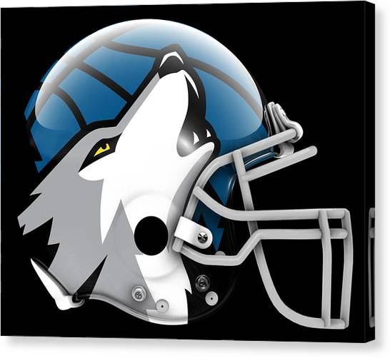 Minnesota Timberwolves Canvas Print - Timberwolves What If Its Football by Joe Hamilton