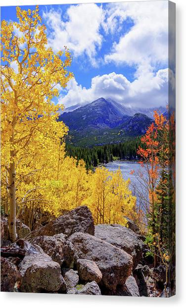Colorado Rockies Canvas Print - Time by Chad Dutson