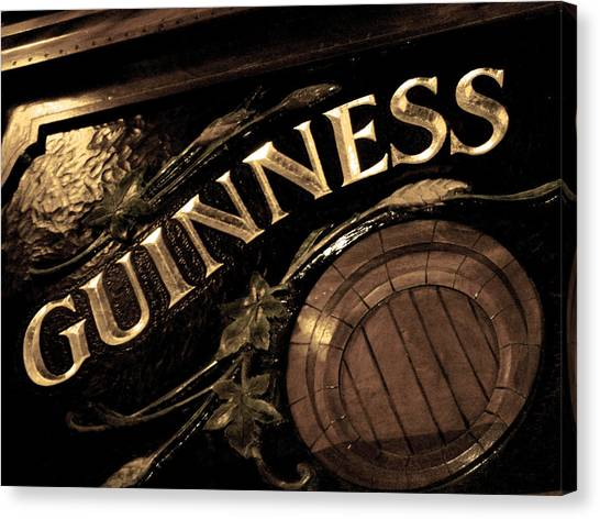 Time For A Guinness Canvas Print