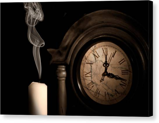 Clock Canvas Print - Time For Bed by Tom Mc Nemar