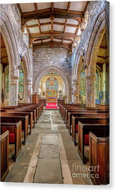Beam Canvas Print - Time For Church by Adrian Evans