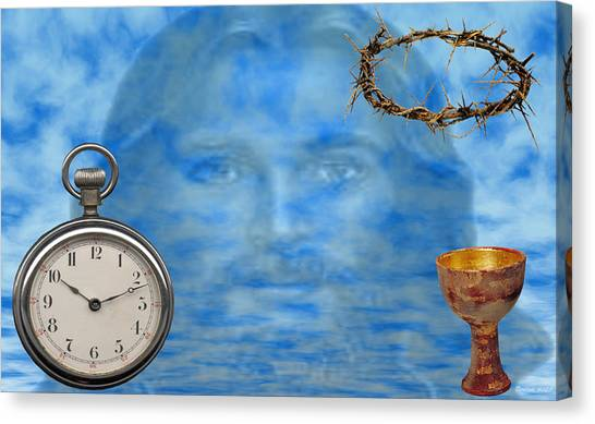 Time Is Ticking Canvas Print by Evelyn Patrick