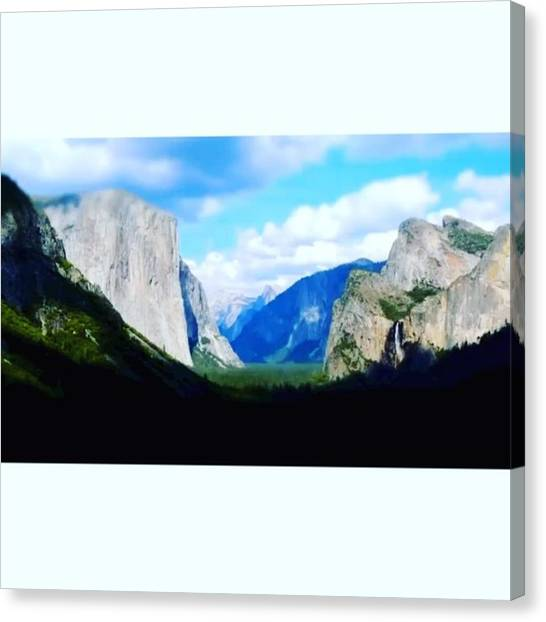 Star Trek Canvas Print - Time Lapse @ El Capitan And Lower Falls by Scotty Brown