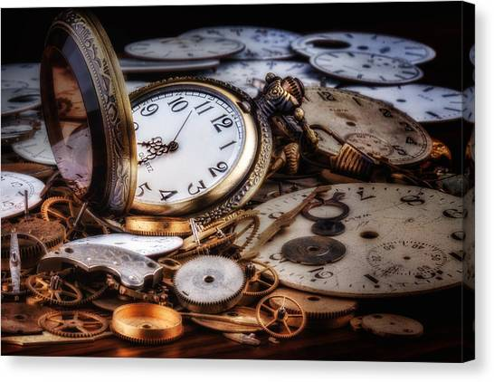 Metallic Canvas Print - Time Machine Still Life by Tom Mc Nemar