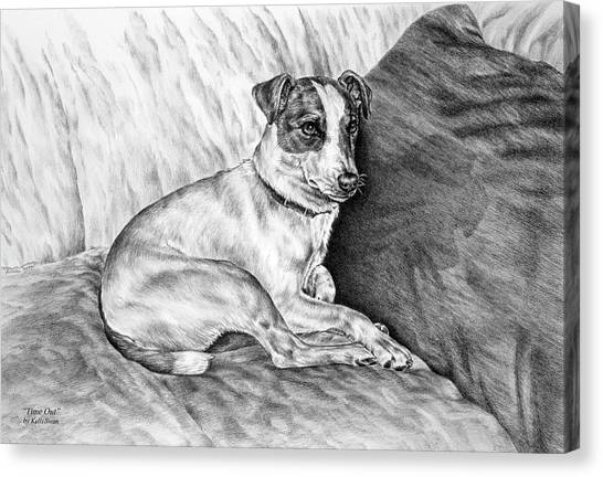 Time Out - Jack Russell Dog Print Canvas Print
