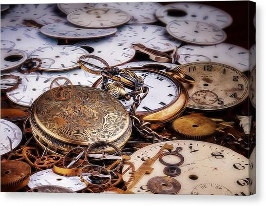 Metallic Canvas Print - Time Pieces by Tom Mc Nemar