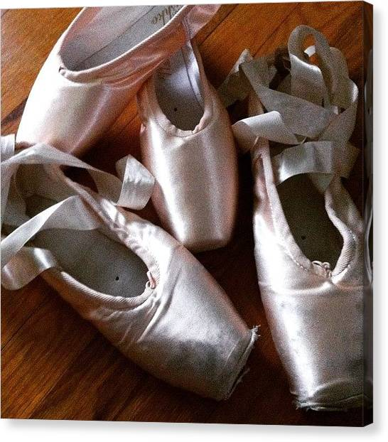 Ballet Shoes Canvas Print - Shoes by Emily B