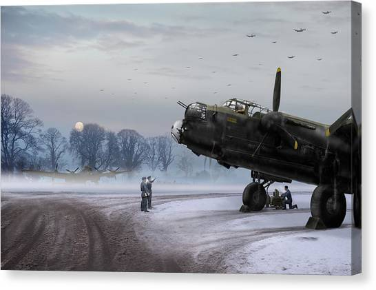 Time To Go - Lancasters On Dispersal Canvas Print