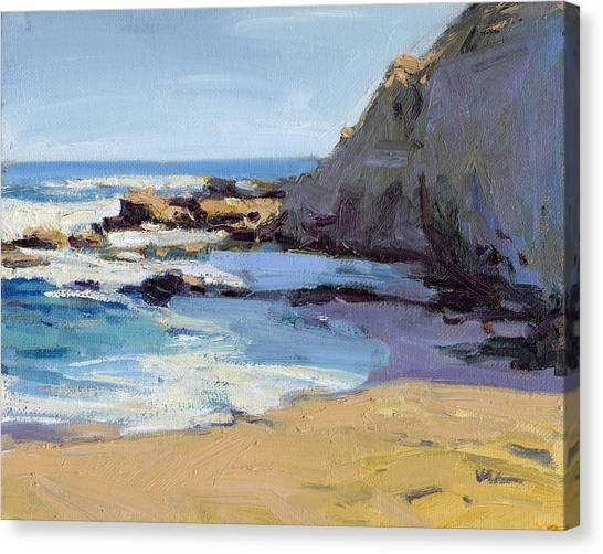 Canvas Print featuring the painting Time To Relax  by Konnie Kim