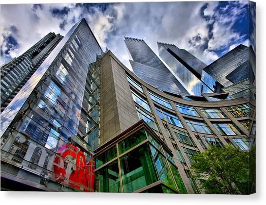 Time Warner Buildings At Columbus Circle Canvas Print