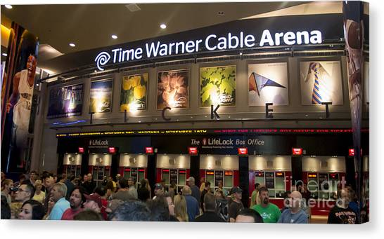 Charlotte Bobcats Canvas Print - Time Warner Cable Arena In Charlotte by David Oppenheimer