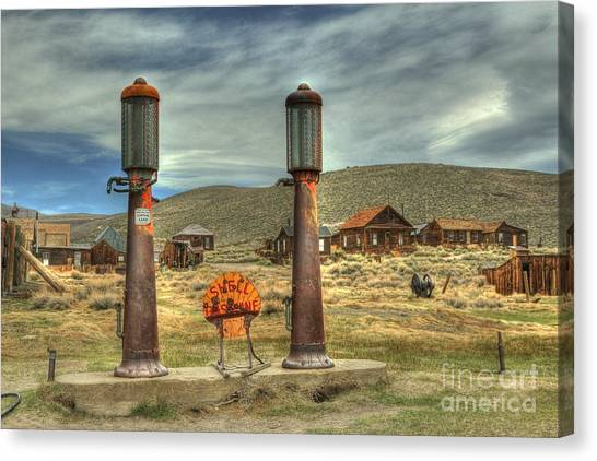 Abandoned House Canvas Print - Time Warp In Bodie by Benanne Stiens