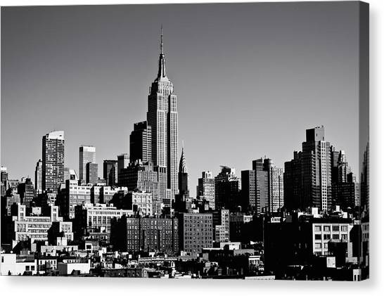 Empire Canvas Print - Timeless - The Empire State Building And The New York City Skyline by Vivienne Gucwa