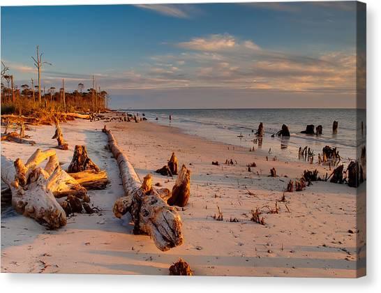 Timeless Florida Beach Canvas Print by Rich Leighton