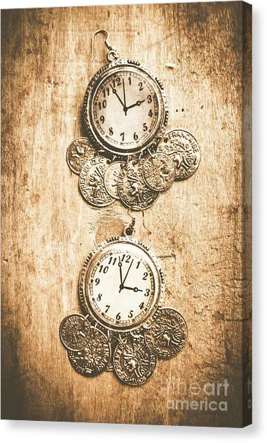 Coins Canvas Print - Timepieces From Bygone Fashion by Jorgo Photography - Wall Art Gallery