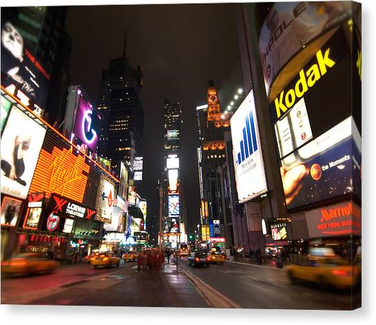 Times Square Canvas Print by John Gusky