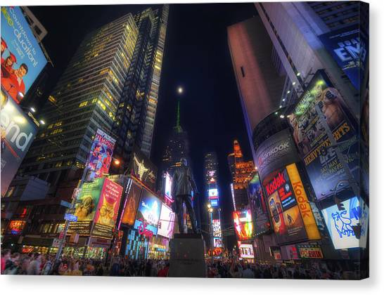 Times Square Moonlight Canvas Print