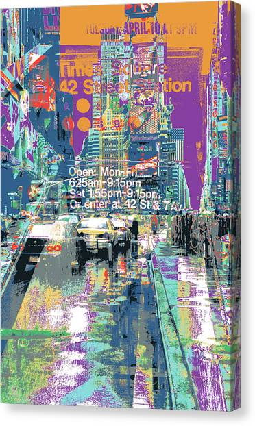 Times Square Morphine Canvas Print by Shay Culligan